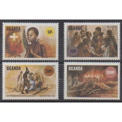 Uganda - 1986 - Nb 429/432 - Various Historics Themes