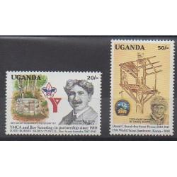 Ouganda - 1991 - No 835/836 - Scoutisme