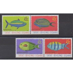 Cocos (Island) - 2001 - Nb 385/388 - Sea animals