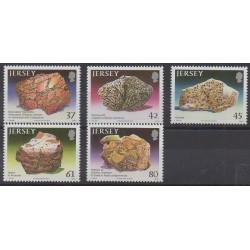 Jersey - 2010 - Nb 1547/1551 - Minerals - Gems