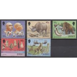 Jersey - 2010 - Nb 1606/1610 - Prehistoric animals