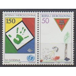 Bosnie-Herzégovine - 1996 - No 185/186 - Enfance