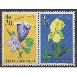 Bosnia and Herzegovina - 1996 - Nb 195/196 - Flowers