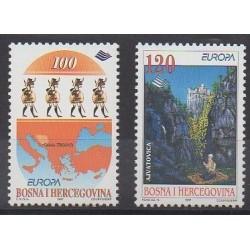 Bosnie-Herzégovine - 1997 - No 219/220 - Littérature - Europa