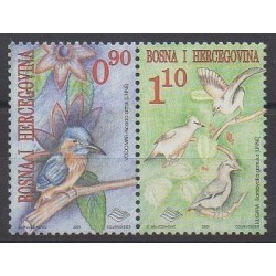 Bosnia and Herzegovina - 2001 - Nb 336/337 - Birds