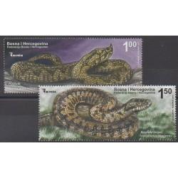 Bosnia and Herzegovina - 2012 - Nb 673/674 - Reptils