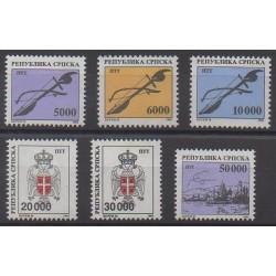 Bosnia and Herzegovina Serbian Republic - 1993 - Nb 18/23