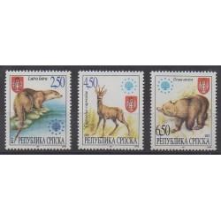 Bosnie-Herzégovine République Serbe - 1997 - No 66/68 - Mammifères - Espèces menacées - WWF