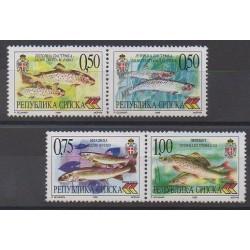 Bosnia and Herzegovina Serbian Republic - 1999 - Nb 136/139 - Sea animals