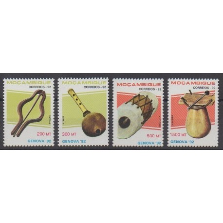Mozambique - 1992 - Nb 1231/1234 - Music - Philately