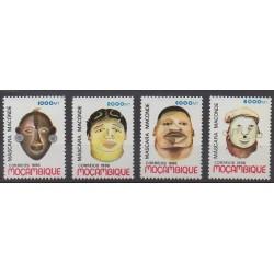Mozambique - 1996 - No 1315/1318 - Masques ou carnaval