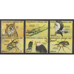 Mozambique - 1999 - No 1378/1383 - Oiseaux - Insectes