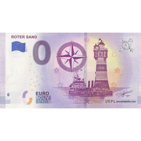 Euro banknote memory - 29 - Roter Sand - 2019-2
