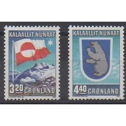 Groenland - 1989 - No 183/184 - Drapeaux - Armoiries
