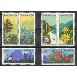 Pologne - 1975- No 2208/2213 - Arbres