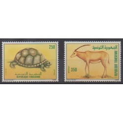 Tunisia - 1989 - Nb 1131/1132 - Reptils - Animals