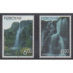 Faroe (Islands) - 1999 - Nb 350/351 - Parks and gardens - Europa