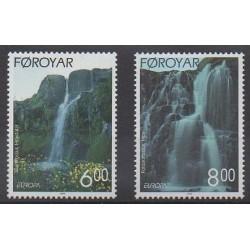 Faroe (Islands) - 1999 - Nb 350/351 - Parks and gardens - Europa