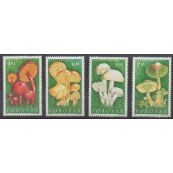 Faroe (Islands) - 1997 - Nb 307/310 - Mushrooms