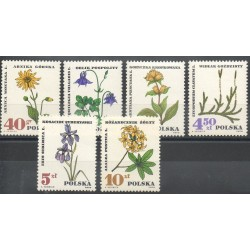 Poland - 1967- Nb 1625/1630 - Flowers