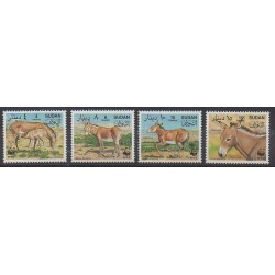 Sudan - 1994 - Nb 429/432 - Mamals - Endangered species - WWF