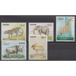 Sudan - 1990 - Nb 378/382 - Mamals