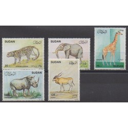Soudan - 1990 - No 378/382 - Mammifères