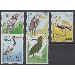 Soudan - 1990 - No 383/387 - Oiseaux