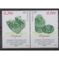 French Southern and Antarctic Territories - Post - 2012 - Nb 602/603 - Minerals - Gems
