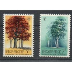 Belgique - 1970- No 1526/1527 - Arbres