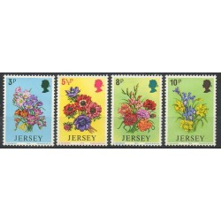 Jersey - 1974- No 89/92 - Fleurs