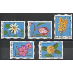 Burkina Faso - 1991- No 838/842 - Fleurs
