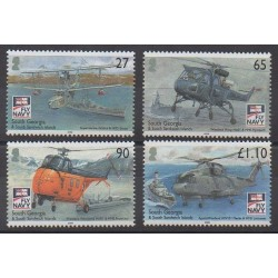 Falkland-Géorgie du Sud et Sandwich du Sud - 2009 - No 453/456 - Hélicoptères