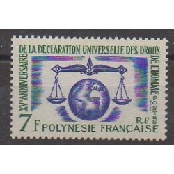 Polynesia - 1963 - Nb 25 - Human Rights