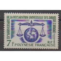 Polynésie - 1963 - No 25 - Droits de l'Homme