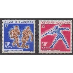 Polynésie - 1963 - No 22/23 - Sports divers