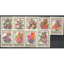 Hungary - 1965- Nb 1721/1729 - Flowers