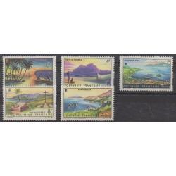 Polynésie - 1964 - No 30/34 - Sites - Neufs avec charnière
