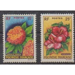 Polynésie - 1962 - No 15/16 - Fleurs