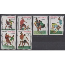 Mozambique - 1989 - No 1127/1132 - Coupe du monde de football