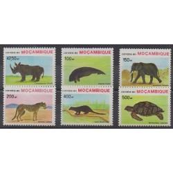Mozambique - 1990 - No 1168/1173 - Espèces menacées - WWF