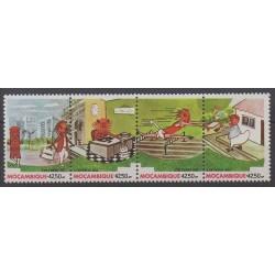 Mozambique - 1990 - Nb 1180/1183 - Postal Service