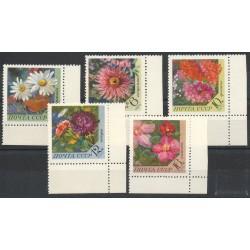 Russie - 1970- No 3665/3669 - Fleurs