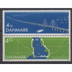Denmark - 2000 - Nb 1256/1257 - Bridges