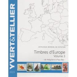 Timbres d'Europe : Volume 3 de Heligoland à Pays-Bas (Edition 2019)