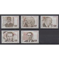 Turquie - 1993 - No 2723/2727 - Célébrités