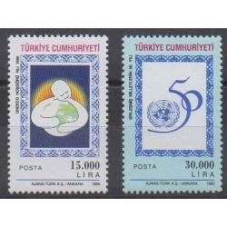 Turquie - 1995 - No 2809/2810 - Nations unies