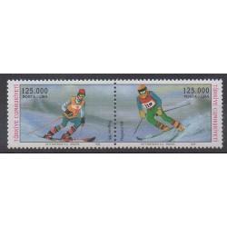 Turquie - 1998 - No 2872/2873 - Jeux olympiques d'hiver