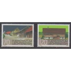 Lienchtentein - 2002 - Nb 1234/1235 - Architecture