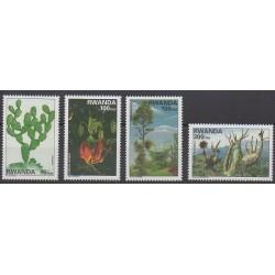 Rwanda - 1997 - No 1328/1331 - Arbres